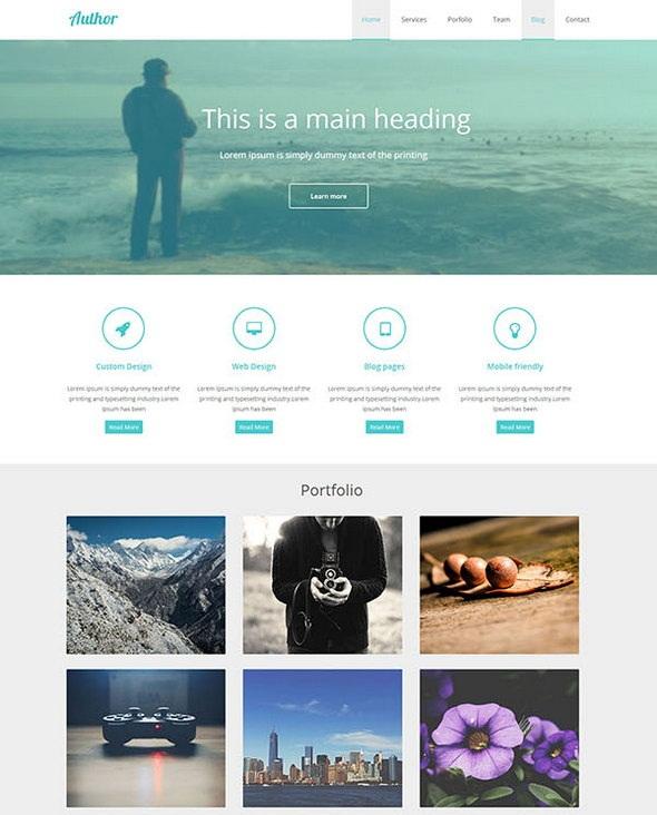 Flat HTML Portfolio Template \u2014 FastcodeSpace - online portfolio template