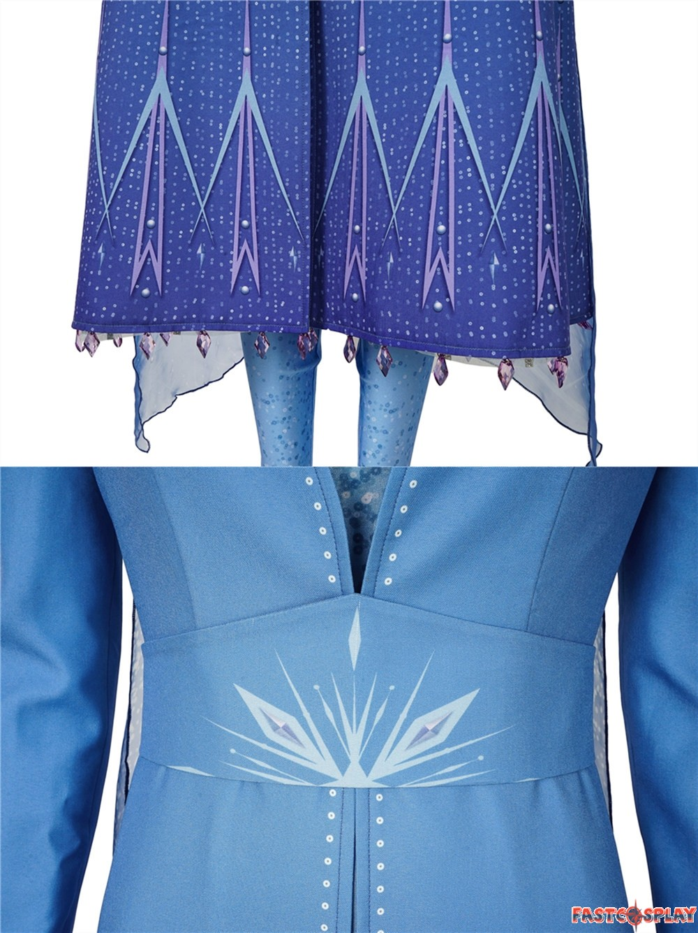 Tom Talor Frozen 2 Elsa Cosplay Costume Fancy Dress Deluxe Version