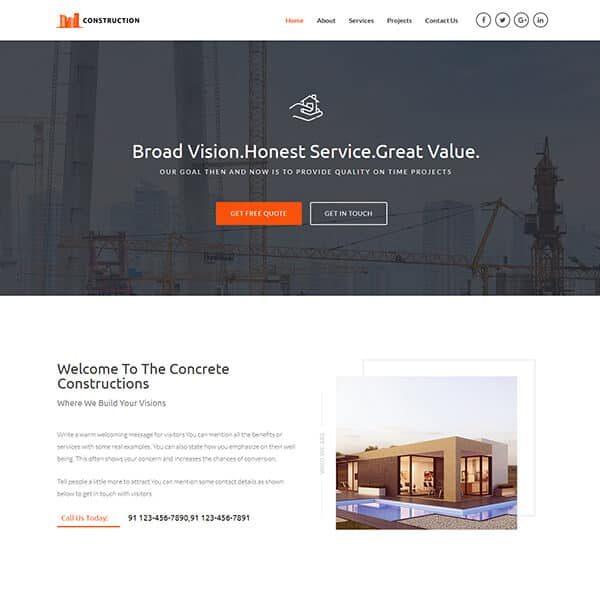 $149 Elementor Astra Pro Home Construction Website - Fast Fix Web Design