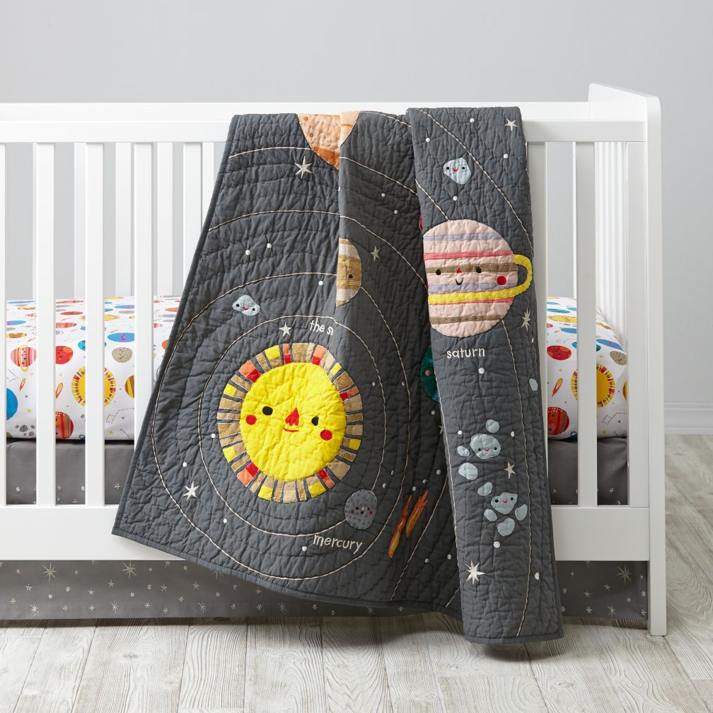 Patchwork Set Baby Land Of Nod Deep Space Baby Quilt For Your Future Astronaut