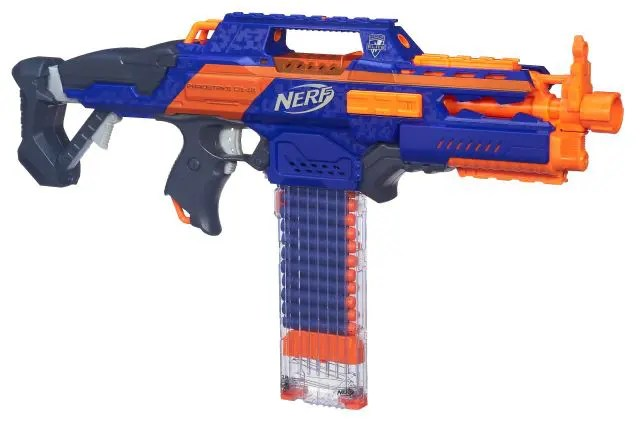 Santa has big guns in his sack, NERF guns!