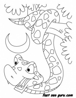 Forest Animal Wallpaper Printable King Cobra Snake Coloring Pages Printable