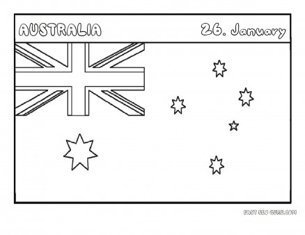 Printable flag of australia coloring page - Printable Coloring Pages