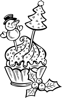 Cute Cartoon Unicorn Wallpapers Printable Christmas Cake Cup Coloring Pages Printable