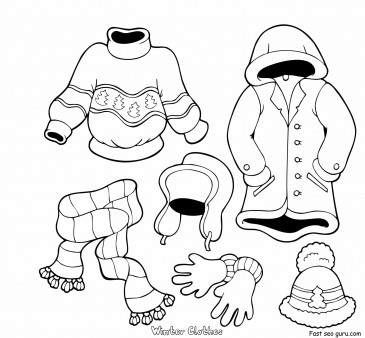 Printable Winter Clothes Coloring Pages - Printable Coloring Pages