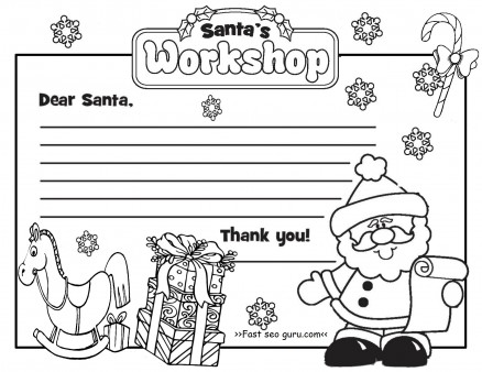 Printable christmas letter to santa claus write template - Printable