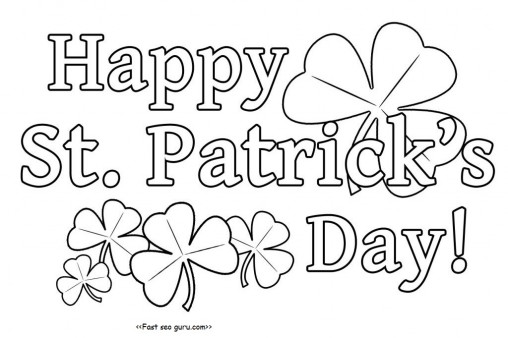 Printanble Happy St Patricks Day Coloring Pages - Printable