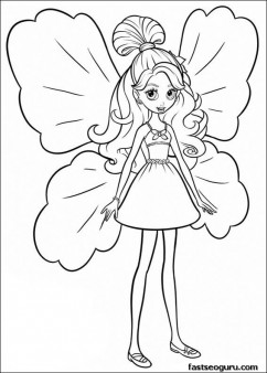 Cute Kitty Cartoon Wallpaper Printable Barbie Thumbelina Janessa Coloring Pages