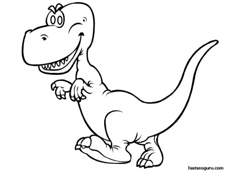 Printable dinosaur happy face tyrannosaurus rex coloring in pages