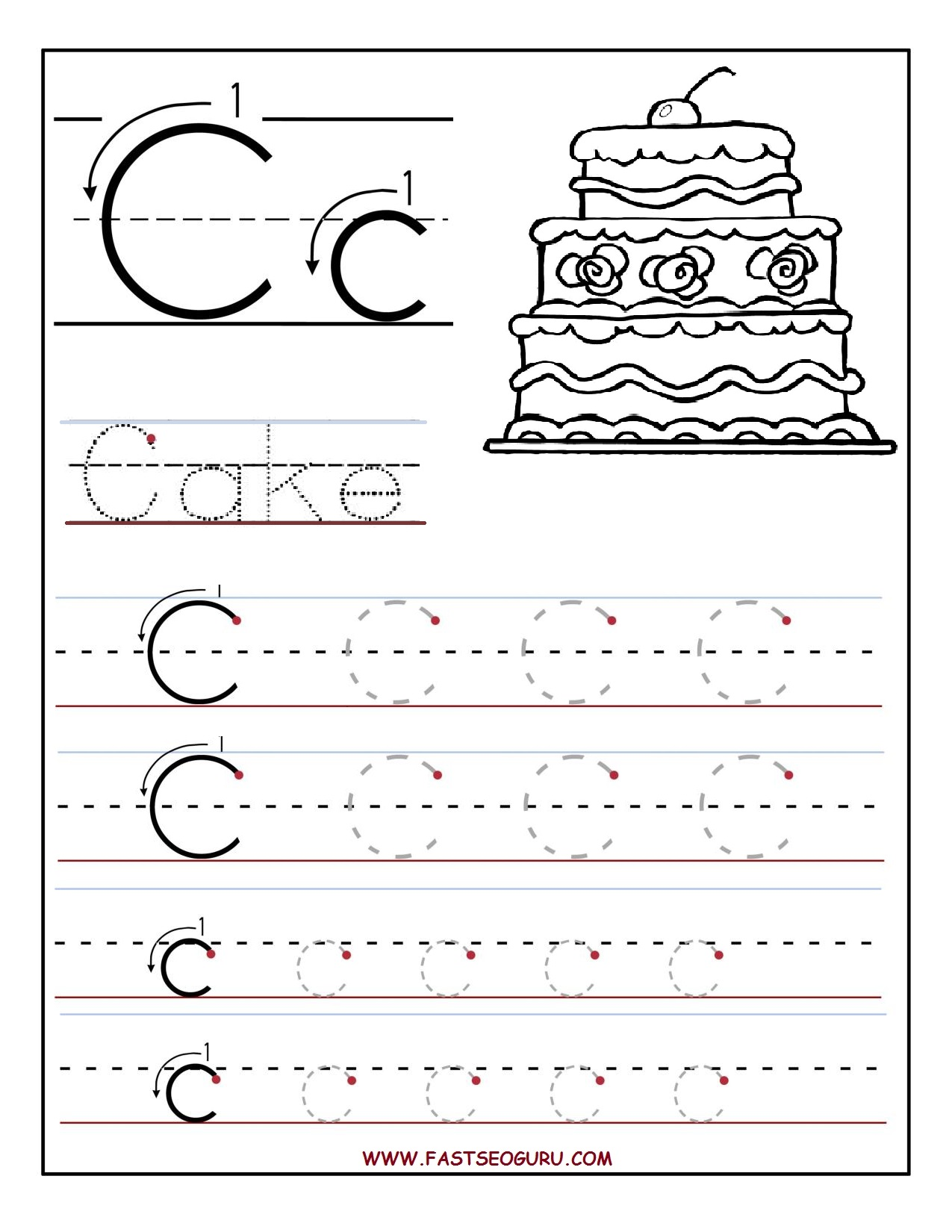 Free Printable Alphabet Tracing Worksheets For