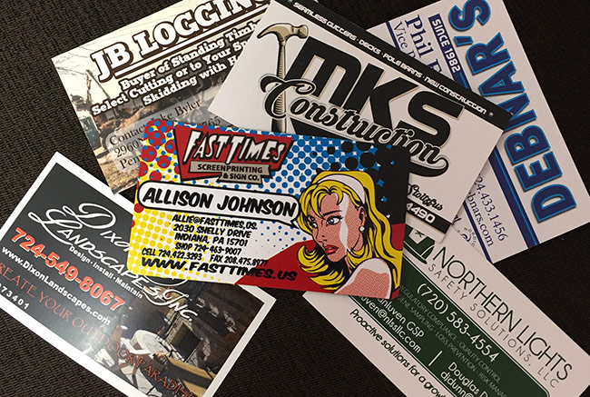Business Cards Fast Times Screen Printing