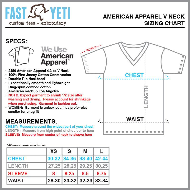 american shirt size chart - Heartimpulsar