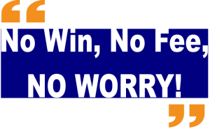 No Win no fee blue