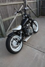White Honda Rebel Bobber