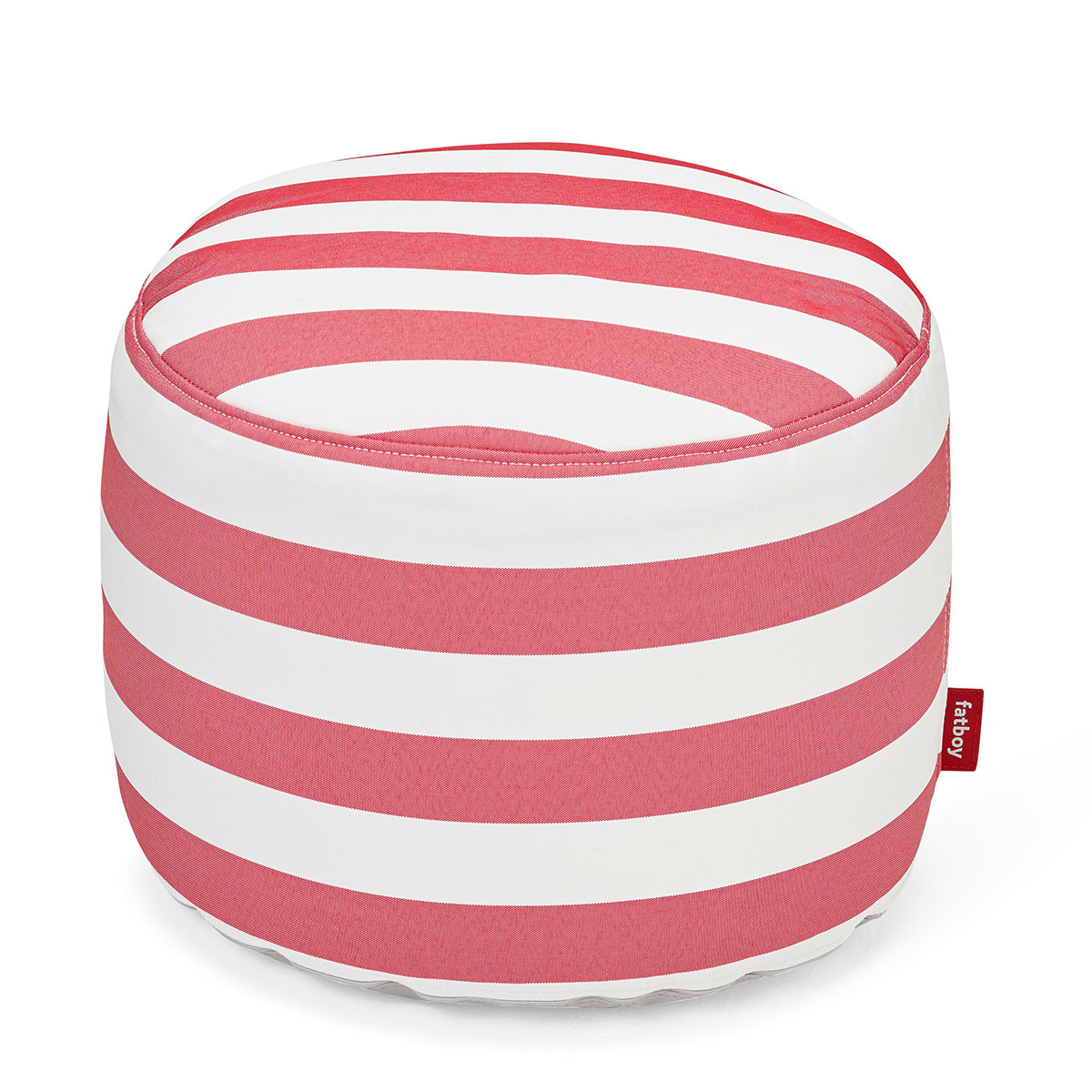 Fatboy Point Outdoor Outdoor Pouf Stripe Red