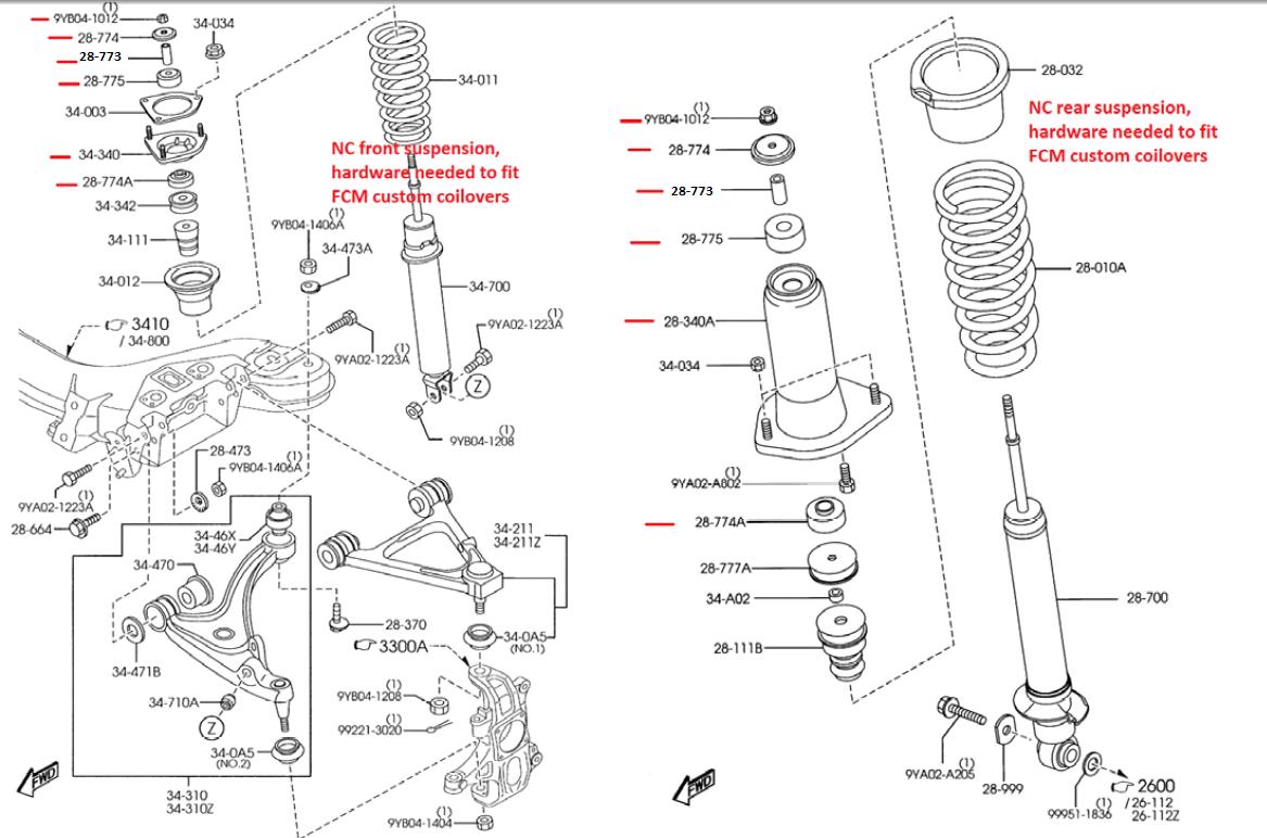 miata suspension diagram