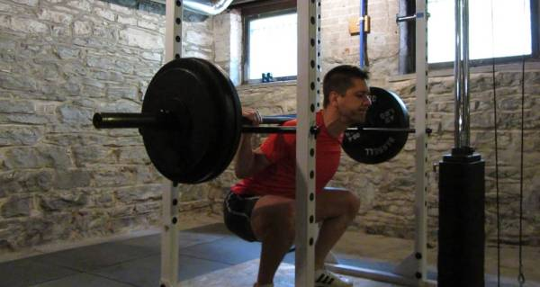 Me squatting 300 lbs last April