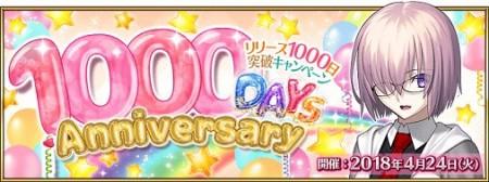 リリース1000日