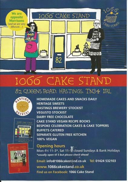 1066 Cake Stand Leaflet - Sep 2014  Front