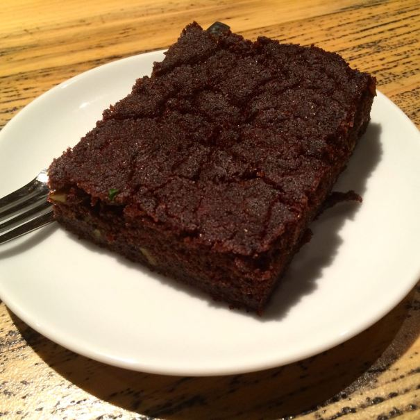 Vegan brownie from Community Kitchen in Istanbul