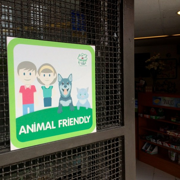 aniaml friendly shop sign