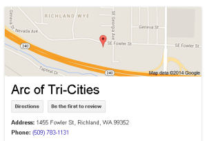 Arc of TriCities Map
