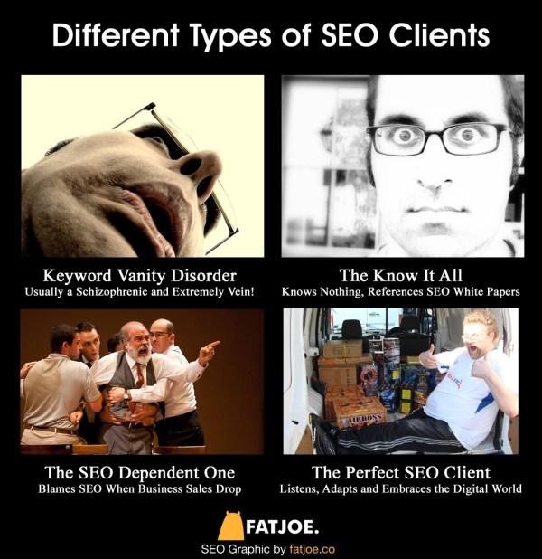 Understanding SEO clients infographic