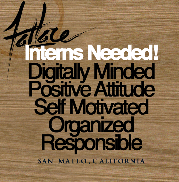 Fatlace Interns Needed! \u2013 Fatlace™ Since 1999 - looking for an internship