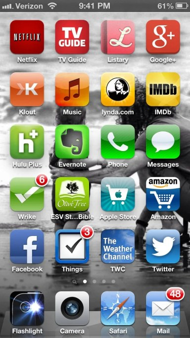 Organizing iPhone Apps