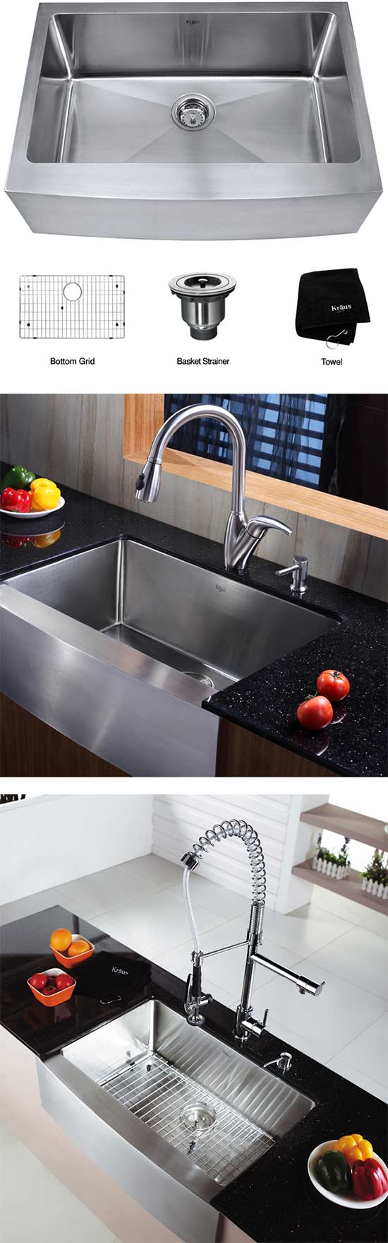 Belle Foret Farmhouse Sink Apron Front Farmhouse Kitchen Sinks From Kohler American