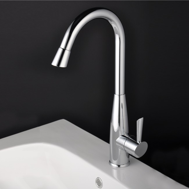 contemporary solid brass kitchen faucet nickel brushed finish contemporary solid brass kitchen faucet chrome finish faucetsmall