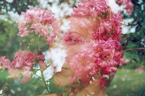 Girl Wallpaper Face Tattoo Art Clever Color Double Exposure Face Flower Image