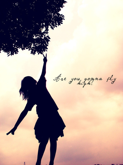 Peaceful Quotes Iphone Wallpaper Beautiful Fly Girl Peace Photo Sky Image 37617 On