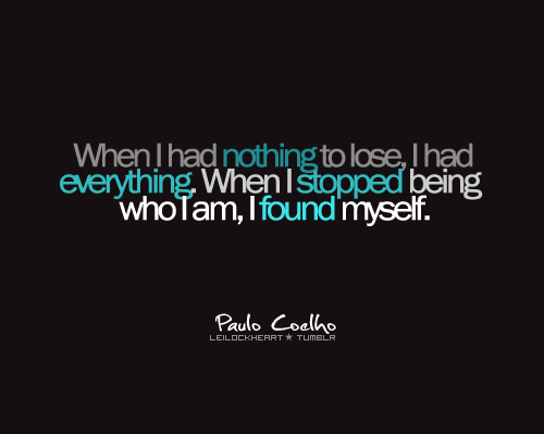 Alchemist Quotes Wallpaper Found I Am Paulo Coelho Quote Text Wisdom Image