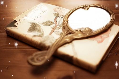Cute Girl Glasses Wallpaper Book Cute Fairy Tale Mirror Pretty Reflect Image