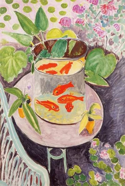 Girl Goldfish Wallpaper Aquarium Fish Henri Matisse Impressionism Pink Image