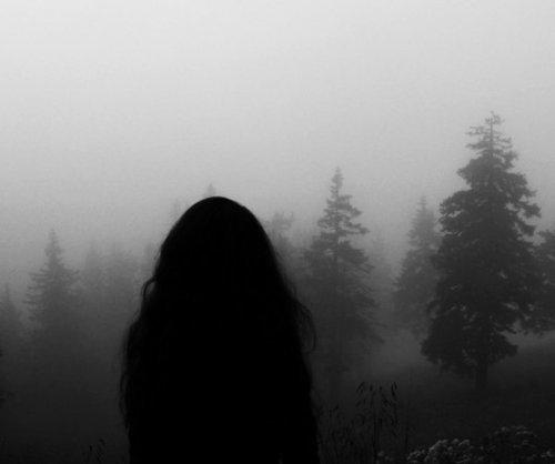 Black Sad Girl Wallpaper Black And White Depressed Girl Hair Lonely Image