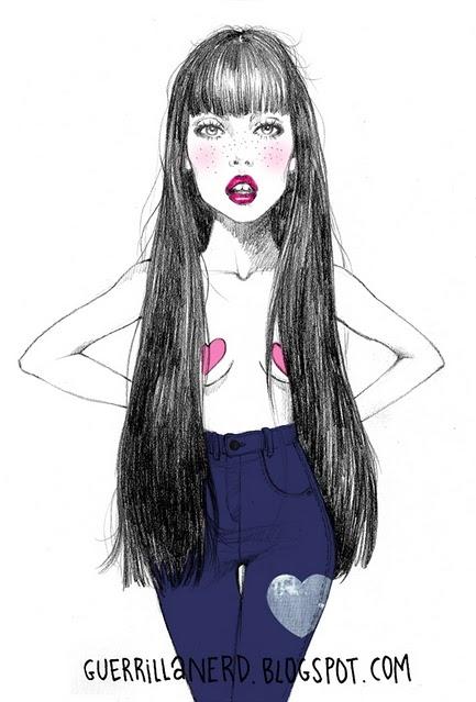 Sad Quotes Wallpaper Iphone 5 Denim Draw Freckles Girl Guerilla Nerd Image 118317