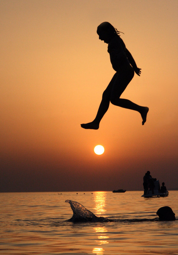 The Cars Wallpaper For Birthday Summer Sea Swimming Sunset Girl Jump Fav Images