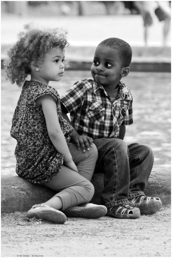 Boy And Girl Hugging Wallpaper Black White Children Smile Summer Fav Images