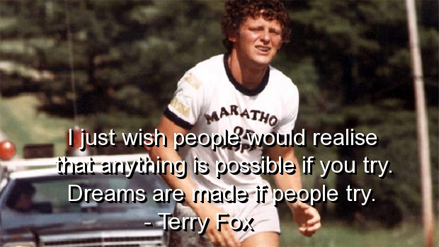 Brainy Funny Quotes Wallpapers Terry Fox Quotes Sayings Deep Meaningful Possible