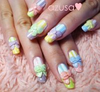 Nail Designs With 3d Bows | Nail Designs, Hair Styles ...