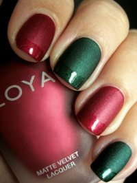 red and green christmas nails - Favnails