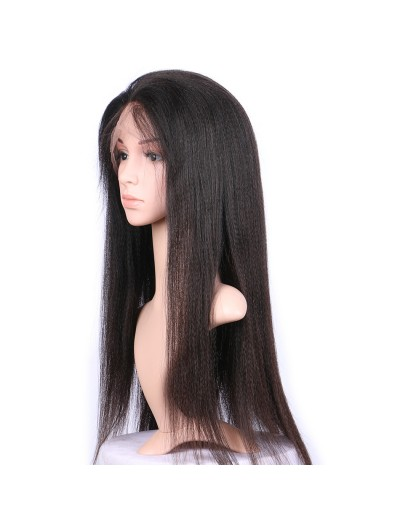 Bob Wig Frontal Yaki Straight Lace Front Human Hair Wigs With Baby Hair