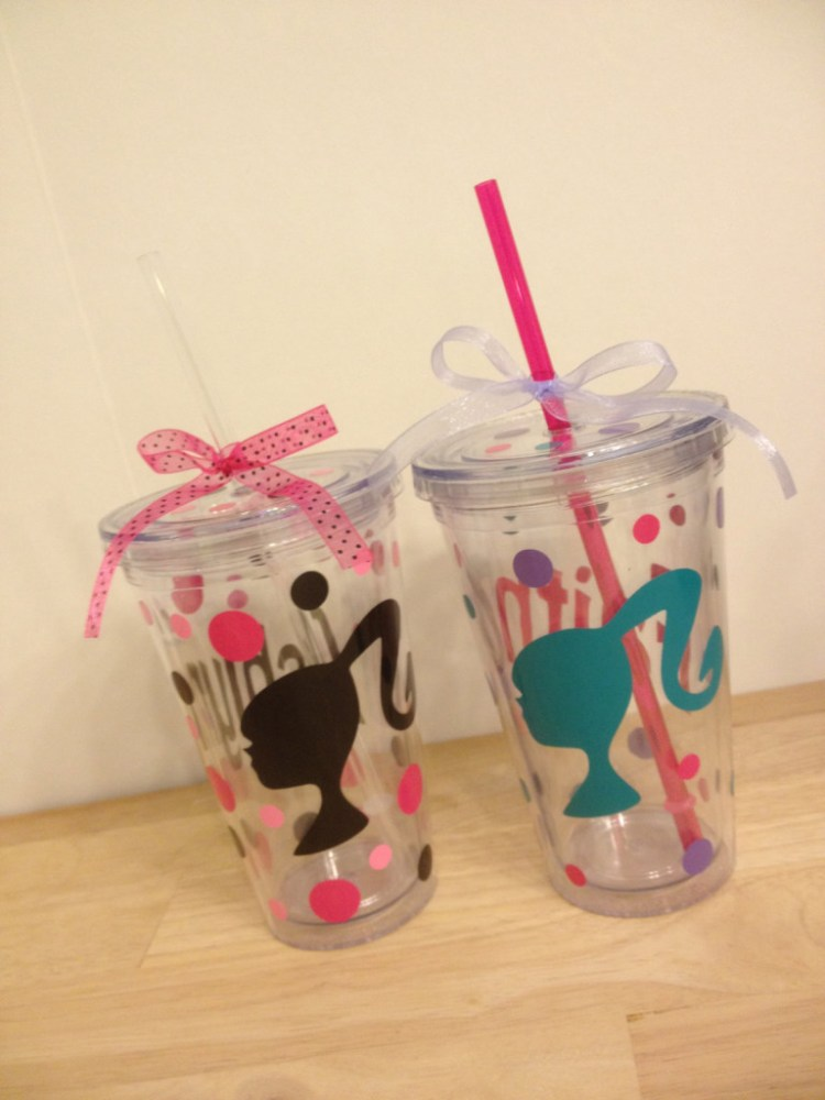 Personalized Silhouette Barbie Tumbler
