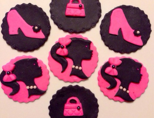 Barbie Fondant Cupcake Toppers