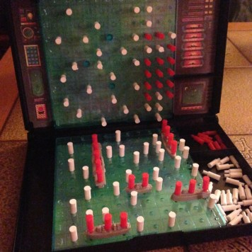 Without internet or cable, what else is there to do except play Battleship?!
