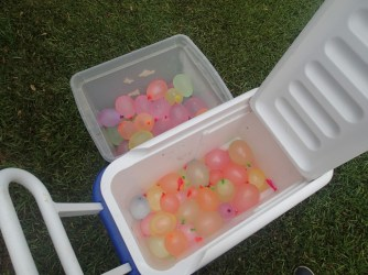 So many water balloons...gone in five minutes