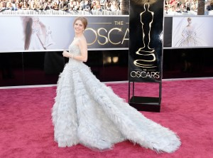 Amy my Adams in Oscar de la Renta Oscars 2013