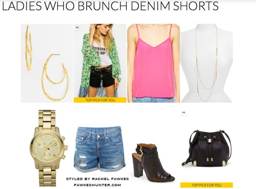 Ladies Who Brunch Denim Shorts